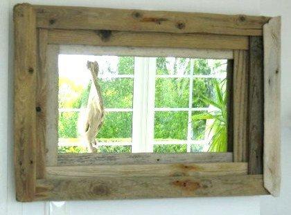 Miroir en bois flott les bois flott s de sophie for Le bois flotte de sophie