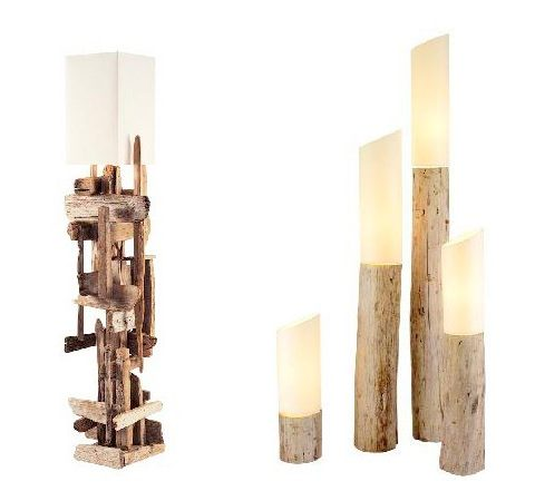 lampes en bois flott les bois flott s de sophie. Black Bedroom Furniture Sets. Home Design Ideas