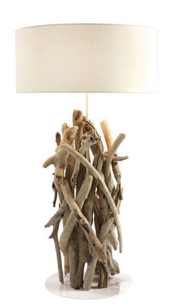 Lampes en bois flott les bois flott s de sophie for Les bois flottes