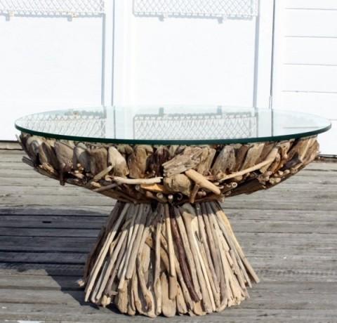 Tables en bois flott les bois flott s de sophie for Les bois flottes