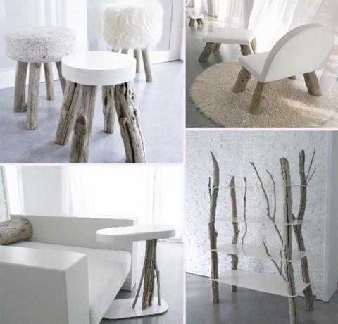 tabourets en bois flott les bois flott s de sophie. Black Bedroom Furniture Sets. Home Design Ideas