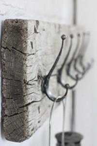 Porte manteaux bois flotté